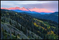 Wrangell Mountains, Sunset. Wrangell-St Elias National Park ( color)