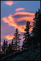 Lenticular cloud, sunset. Wrangell-St Elias National Park ( color)