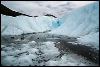 Meltwater and canyon, Root Glacier. Wrangell-St Elias National Park ( color)