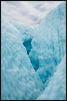 Walls of ice in narrow canyon, Root Glacier. Wrangell-St Elias National Park ( color)