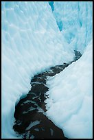 Glacial stream, ice canyon, Root Glacier. Wrangell-St Elias National Park ( color)