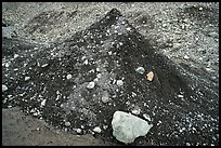 Sand-cone feature, Root Glacier. Wrangell-St Elias National Park ( color)