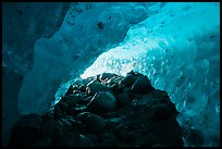 Ice cave below Root Glacier. Wrangell-St Elias National Park ( color)