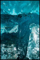 Transparent ice detail, ice cave. Wrangell-St Elias National Park ( color)
