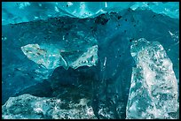 Glacier cave wall with transparent blocks. Wrangell-St Elias National Park ( color)