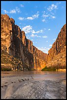 Santa Elena Canyon, sunrise. Big Bend National Park ( color)