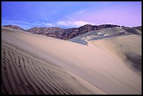 Eureka Dunes, tallest in the park, dusk. Death Valley National Park ( color)