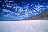 Salt flats at Badwater, mid-day. Death Valley National Park, California, USA. (color)