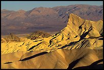 Manly beacon, Zabriskie point, sunrise. Death Valley National Park ( color)