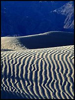 Ripples on Mesquite Sand Dunes, morning. Death Valley National Park ( color)