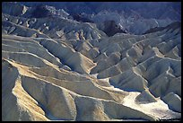 Eroded badlands near Zabriskie Point. Death Valley National Park, California, USA. (color)