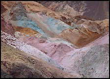 Colorful mineral deposits at Artist's Palette. Death Valley National Park ( color)