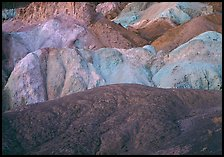 Multicolored mineral deposits, Artist Palette. Death Valley National Park ( color)
