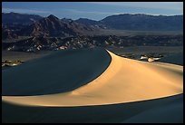 Mesquite Sand dunes and Amargosa Range, early morning. Death Valley National Park ( color)