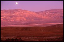 Moonrise over the Panamint range. Death Valley National Park, California, USA. (color)