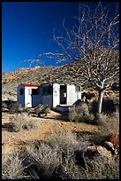 Cabin of Pete Aguereberry's mining camp in the Panamint Mountains, afternoon. Death Valley National Park ( color)