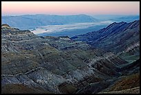 Canyon and Death Valley from Aguereberry point, sunset. Death Valley National Park ( color)