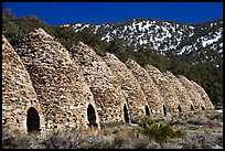 Wildrose charcoal kilns in the Panamint Range. Death Valley National Park ( color)