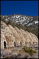 Wildrose charcoal kilns, in operation from 1877 to 1878. Death Valley National Park ( color)