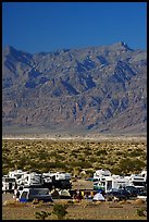 Camp and RVs at Stovepipe Wells, with Armagosa Mountains in the background. Death Valley National Park ( color)