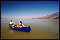 Canoeing in Death Valley after the exceptional winter 2005 rains. Death Valley National Park ( color)