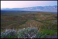 Panamint Valley and Panamint Range, dusk. Death Valley National Park, California, USA.