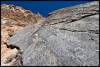 Petroglyphs, Klare Spring, Titus Canyon. Death Valley National Park ( color)