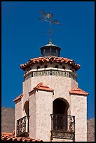 Tower and weathervane, Scotty's Castle. Death Valley National Park ( color)