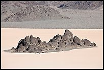 Grandstand and Racetrack playa. Death Valley National Park ( color)
