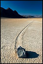 Sailing rock and travel groove on the Racetrack. Death Valley National Park ( color)