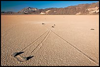 Sailing stones, the Racetrack playa. Death Valley National Park ( color)