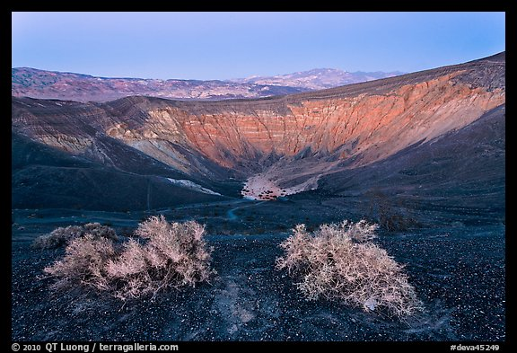 Ubehebe Crater at twilight. Death Valley National Park, California, USA.