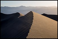 Dune ridges and Panamint Range. Death Valley National Park ( color)