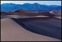 Mesquite Sand dunes and Amargosa Range at dusk. Death Valley National Park ( color)