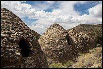 Wildrose Charcoal Kilns and clouds. Death Valley National Park ( color)
