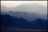Mountains in the haze of sandstorm. Death Valley National Park ( color)