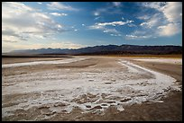Dried rivers of salt, Cottonball Basin. Death Valley National Park ( color)