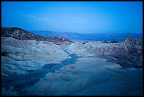 Blue hour, Zabriskie Point. Death Valley National Park ( color)