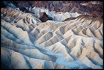 Eroded badlands at dawn, Zabriskie Point. Death Valley National Park ( color)