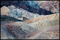 Multicolored badlands, Twenty Mule Team Canyon. Death Valley National Park ( color)