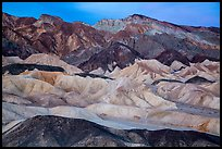 Badlands at dawn, Twenty Mule Team Canyon. Death Valley National Park ( color)