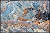 Pastel-colored badlands, Twenty Mule Team Canyon. Death Valley National Park ( color)