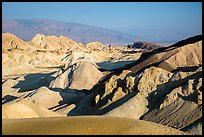 Twenty Mule Team Canyon and distant valley. Death Valley National Park ( color)