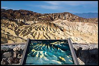 Zabriskie Point Interpretive sign. Death Valley National Park ( color)
