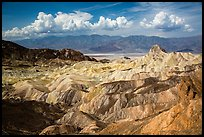 Manly Beacon and badlands near Zabriskie Point. Death Valley National Park ( color)
