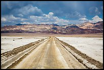 West Side Road crossing Salt Pan. Death Valley National Park ( color)