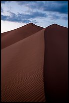Dune ridges at sunset, Ibex Dunes. Death Valley National Park ( color)