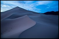 Ibex Sand Dunes, blue hour. Death Valley National Park ( color)