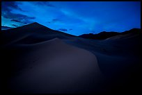 Ibex Sand Dunes at night. Death Valley National Park ( color)