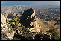 El Capitan and West Texas plain from Guadalupe Peak. Guadalupe Mountains National Park ( color)
